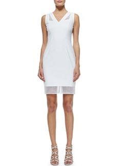 Mirella Net-Trim Sheath Dress   Mirella Net-Trim Sheath Dress
