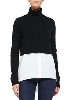 Raleigh Cropped Mock-Neck Sweater   Raleigh Cropped Mock-Neck Sweater