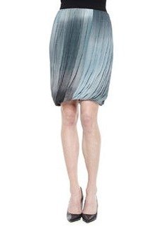 Remmi Pleated Draped Skirt, Blue/Gray   Remmi Pleated Draped Skirt, Blue/Gray