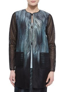 Reversible Melody Mesh-Sleeve Jacket   Reversible Melody Mesh-Sleeve Jacket