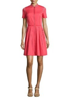 Rudy Short-Sleeve Pleated Shirtdress   Rudy Short-Sleeve Pleated Shirtdress