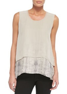 Rudy Sleeveless Two-Tiered Blouse   Rudy Sleeveless Two-Tiered Blouse