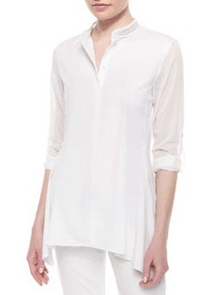 Sabella Long-Sleeve Blouse W/Mesh Detail   Sabella Long-Sleeve Blouse W/Mesh Detail