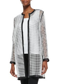 Soho Reversible Mesh Coat, Black/White   Soho Reversible Mesh Coat, Black/White
