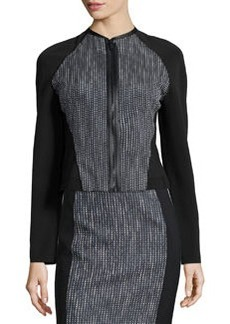 Sydney Tweed Zip-Front Jacket   Sydney Tweed Zip-Front Jacket