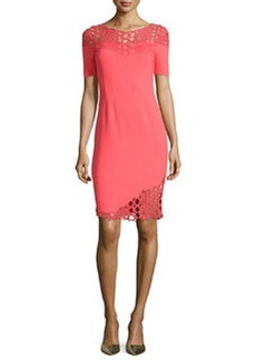Tabitha Eyelet-Detail Sheath Dress   Tabitha Eyelet-Detail Sheath Dress