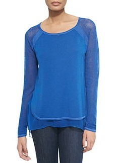 Tipper Sweater W/ Mesh Sleeves, Kismet   Tipper Sweater W/ Mesh Sleeves, Kismet