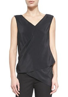 Vanessa Sleeveless Asymmetric Wrap Blouse   Vanessa Sleeveless Asymmetric Wrap Blouse