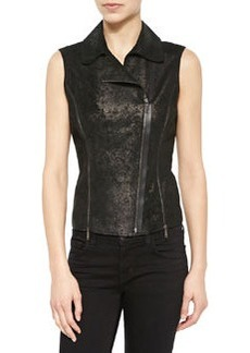 Victoria Distressed Leather Vest   Victoria Distressed Leather Vest