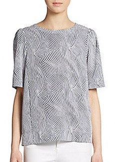 Ella Moss Abstract Striped Top
