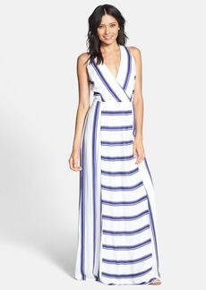 Ella Moss 'Anabel' Stripe Surplice Maxi Dress