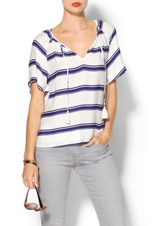 Ella Moss Anabel Striped Short Sleeve Top