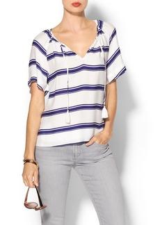 Ella Moss Anabel Striped Short Sleeve Top