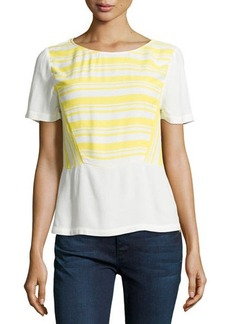 Ella Moss Annika Striped Short-Sleeve Top