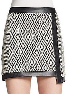 Ella Moss Asymmetrical Jacquard Skirt
