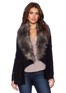 Ella Moss Ava Jacket With Faux Fur Trim