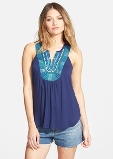 Ella Moss 'Bella' Embroidered Sleeveless Top