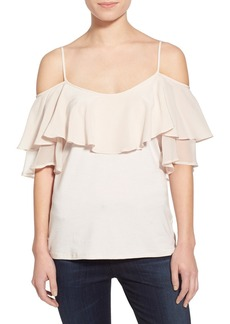 Ella Moss 'Bella' Ruffle Cold Shoulder Top