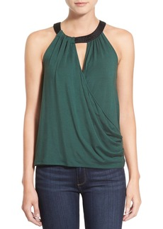 Ella Moss 'Bella' Surplice High Neck Tank