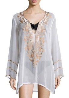 Ella Moss BELLE FLORAL BEADED TUNIC  BELLE FLORAL BEADED TUNIC