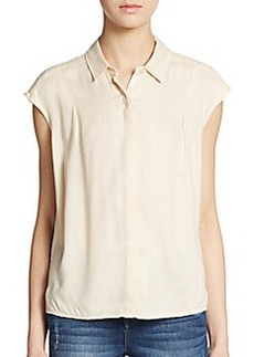 Ella Moss Boxy Button-Front Top