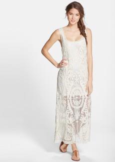 Ella Moss 'Cabana' Crochet Overlay Maxi Dress
