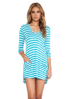 Ella Moss Cabana Stripe Hooded Cover Up