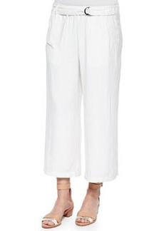 Ella Moss Candice Tab-Waist Straight-Leg Pants