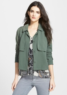 Ella Moss 'Candice' Woven Military Jacket