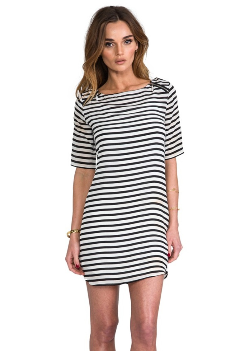 Ella Moss Cara Striped Dress in White