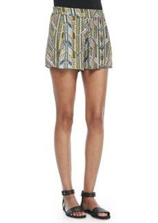 Ella Moss Chevron-Print Pull-On Shorts