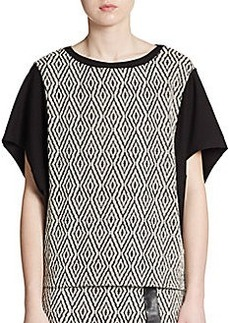 Ella Moss Colorblock Jacquard Top