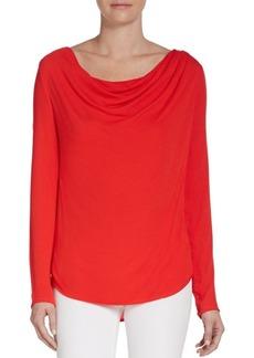 Ella Moss Cowlneck Jersey-Knit Top