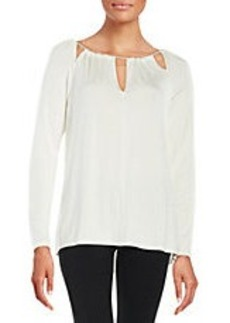 ELLA MOSS Cutout Peasant Top