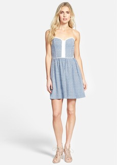 Ella Moss 'Debbie' Strapless Jacquard Dress