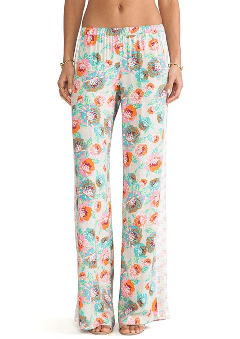 Ella Moss Delilah Floral Pants in Pink