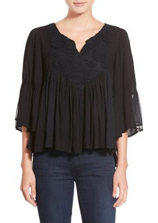 Ella Moss 'Desiree' Bell Sleeve Peasant Top