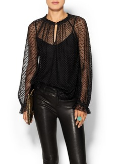 Ella Moss Dot Lace Top