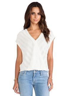 Ella Moss Eloisa Crossover Sweater in Cream