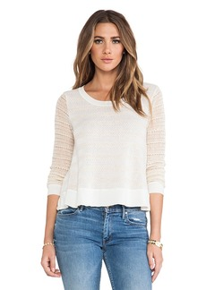 Ella Moss Eloisa Striped Pullover in Ivory