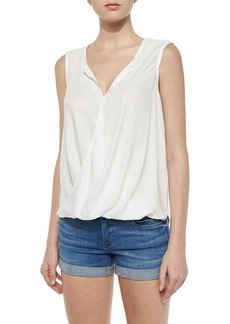Ella Moss Embroidered-Back Surplice Tank