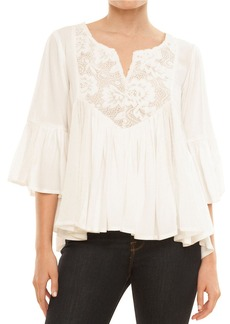 ELLA MOSS Embroidered Peasant Top