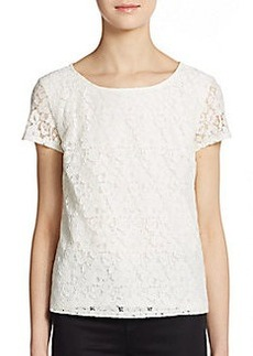 Ella Moss Floral Lace Top