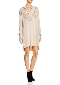 Ella Moss Fringe Trim Sweater Dress