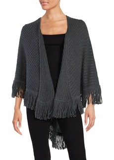 ELLA MOSS Fringed Open-Front Poncho