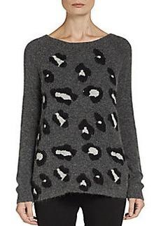 Ella Moss Fuzzy Lepoard Print Sweater