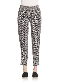 Ella Moss Geo-Print Drawstring Track Pants