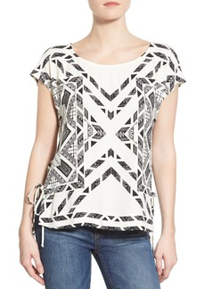 Ella Moss 'Hopelux' Graphic Side Tie Top