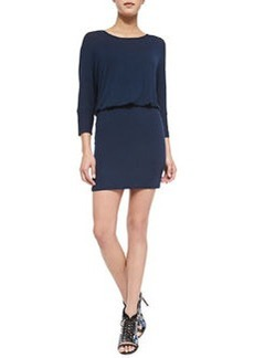 Ella Moss Icon 3/4-Sleeve Dress W/ Cowl Back