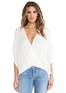 Ella Moss Icon Crossover Blouse in Ivory